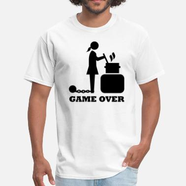 Bachelorette game over cooking woman bachelorette bachelor   - Men's T-Shirt