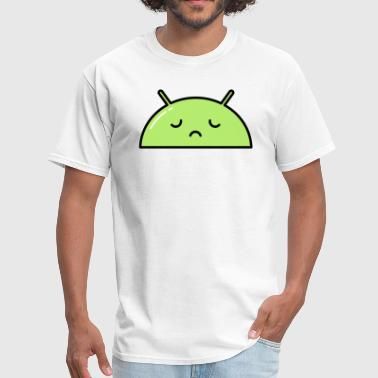 Sad Alien Face Emoticon - Men's T-Shirt