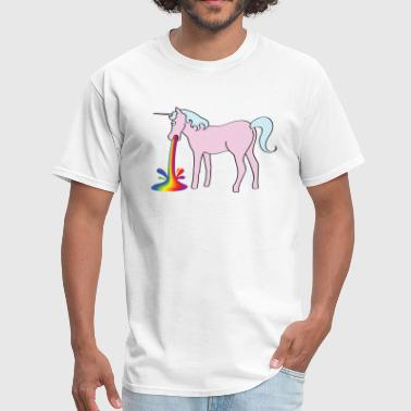 Unicorn Vomiting Rainbow Inappropriate Unicorn - Men's T-Shirt