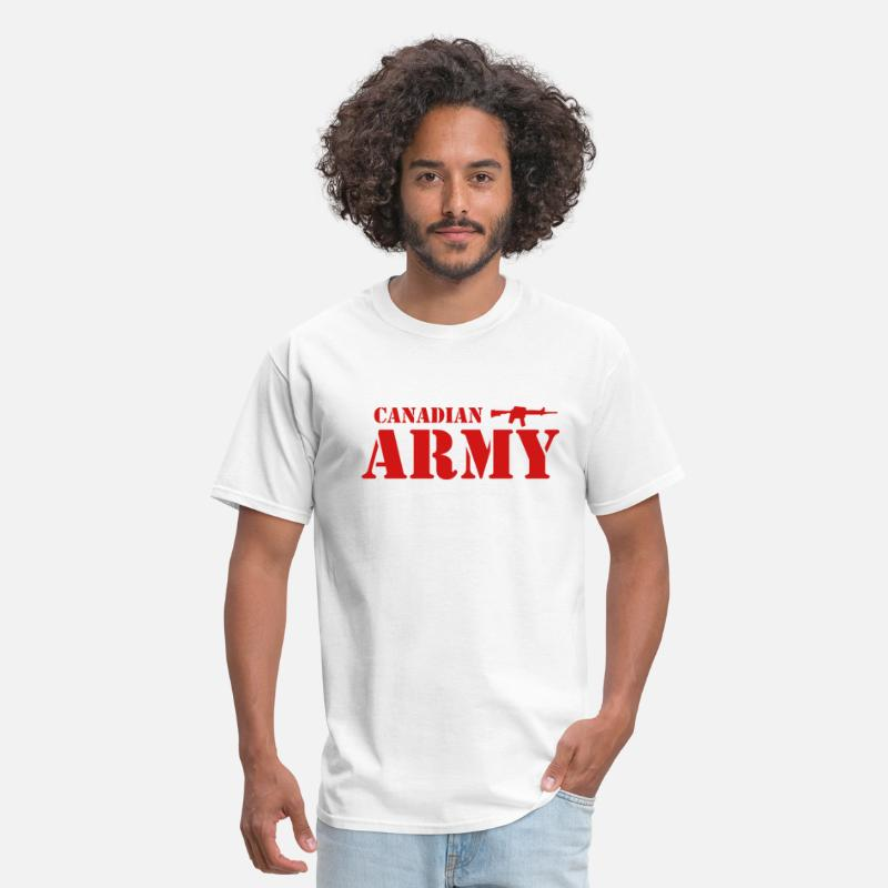 Military T-Shirts - Canadian Army - Men's T-Shirt white
