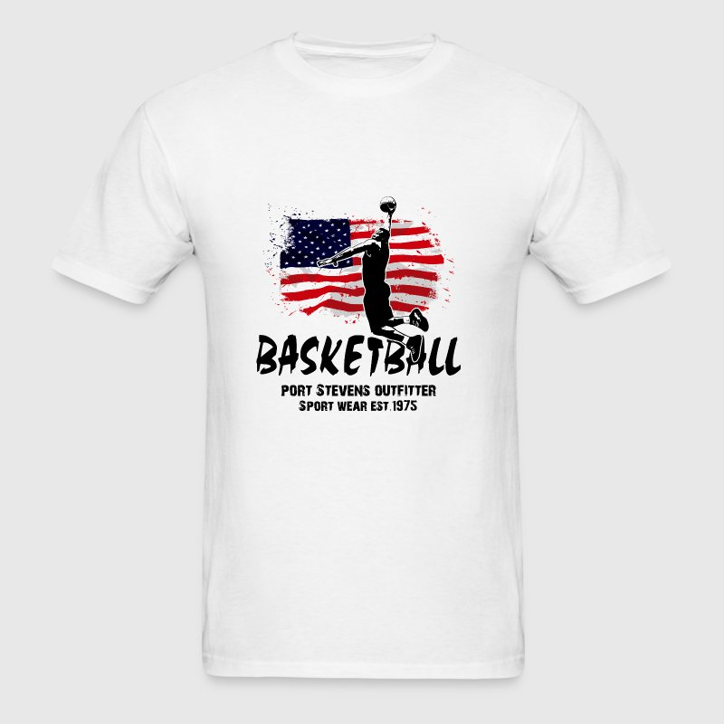 Basketball -  USA Flag - Men's T-Shirt