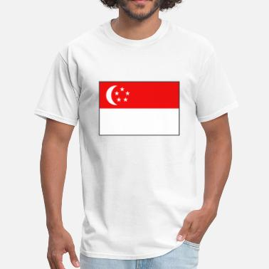 Flag Of Singapore Singapore Flag - Men's T-Shirt
