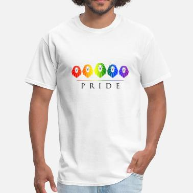 Rainbow Pride Gay Pride - LGBT Rainbow Lions - Men's T-Shirt