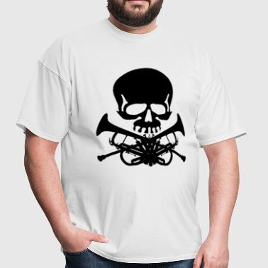 Skull with Trumpets - Men's T-Shirt