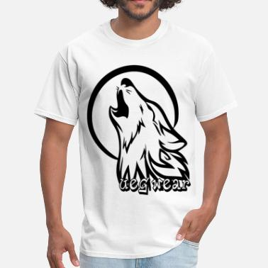 Wolf Howling Moon Wolf Howling At Moon - Men's T-Shirt