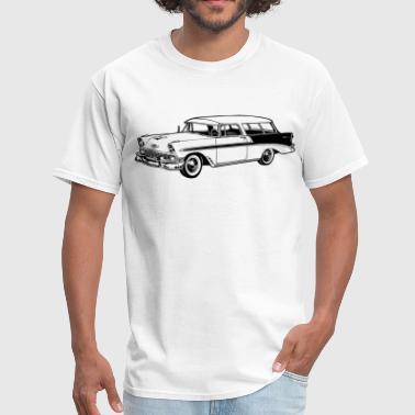 56 Chevy Station Wagon - Men's T-Shirt