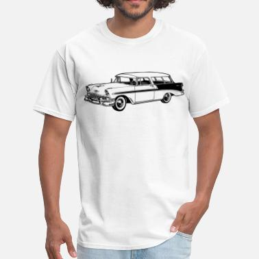 56 56 Chevy Station Wagon - Men's T-Shirt