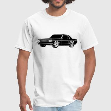 Mustang Black and White - Men's T-Shirt