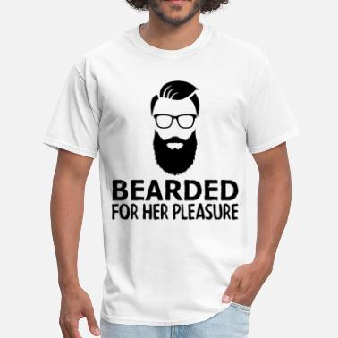 Him And Her Forever Bearded For Her Pleasure Funny Beard Gifts For Him - Men's T-Shirt