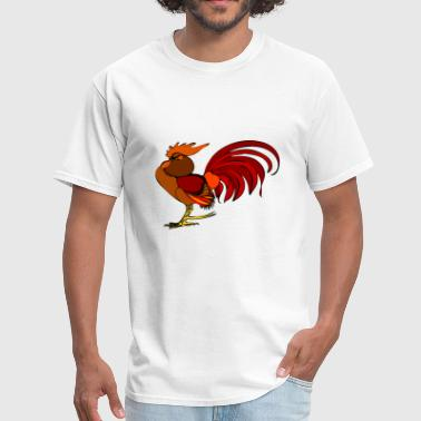 Funny Rooster rooster - Men's T-Shirt