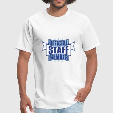 emblem star employee banner stamp sticker official - Men's T-Shirt