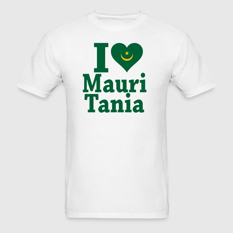 I Love Mauritania Flag t-shirt - Men's T-Shirt