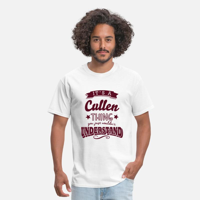 T-Shirts - its a cullen name surname thing - Men's T-Shirt white