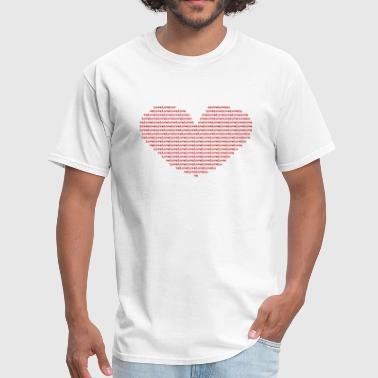 Isle of Ascii red Heart | by Isles of Shirts - Men's T-Shirt
