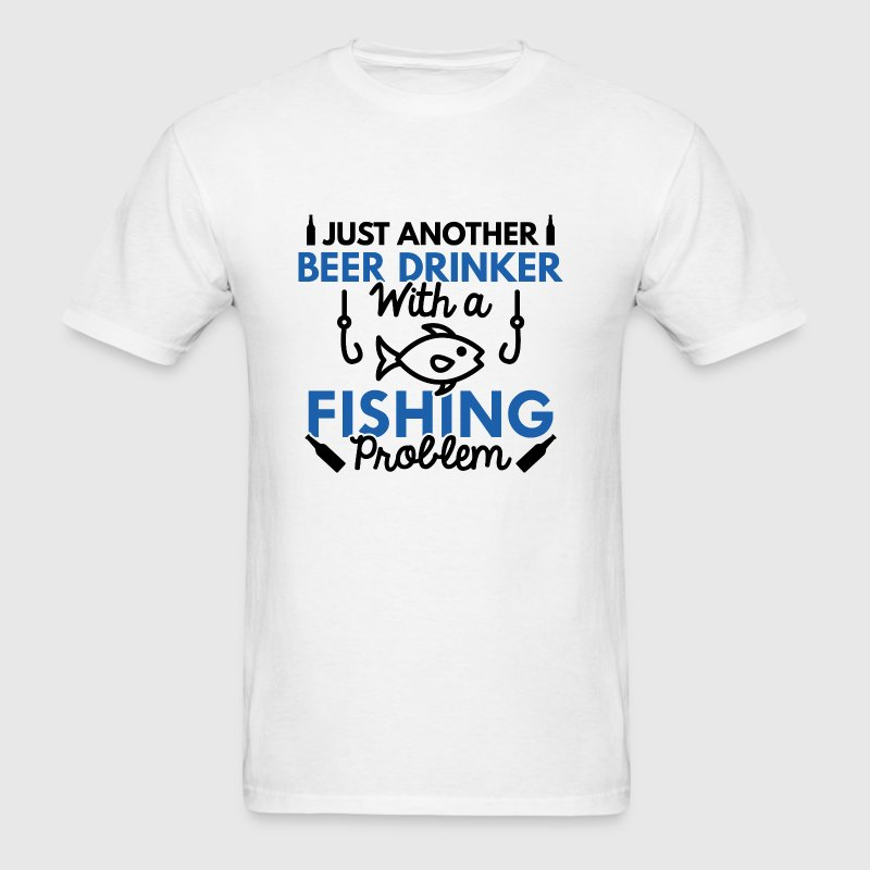 Beer Drinker Fishing - Men's T-Shirt
