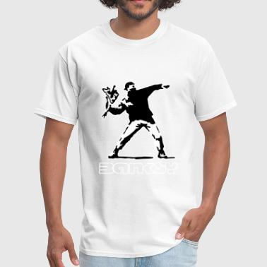 Banksy Banksy ba02 flower thrower - Men's T-Shirt