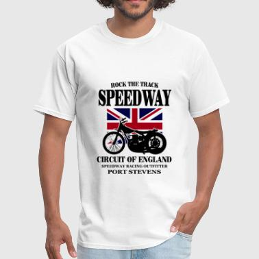 Race Track Motorcycle Speedway - Dirt Track Racing - Men's T-Shirt