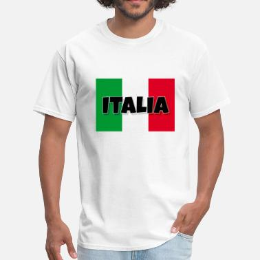 Italian Flag And Italia Italia - Flag of Italy - Men's T-Shirt