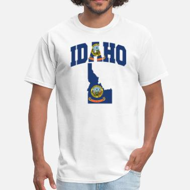 Idaho Idaho Flag In Idaho Map T-Shirt - Men's T-Shirt