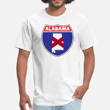 Interstate Sign Alabama Flag Interstate Sign - Men's T-Shirt