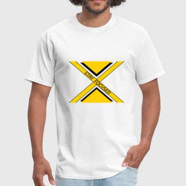 x dash logo beam focused stay focused king crown p - Men's T-Shirt