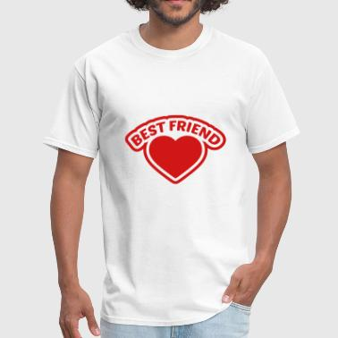 frame heart best friends text logo friends best lo - Men's T-Shirt