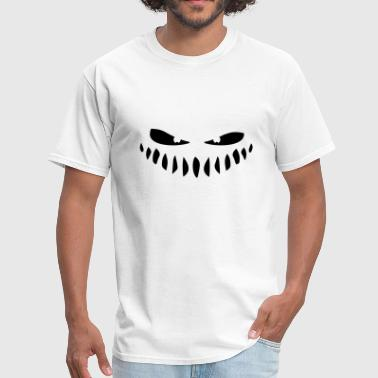 angry monster eyes mouth dangerous cartoon cartoon - Men's T-Shirt