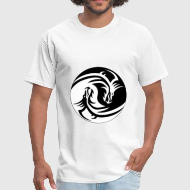 Dragon Yin/Yang - Men's T-Shirt