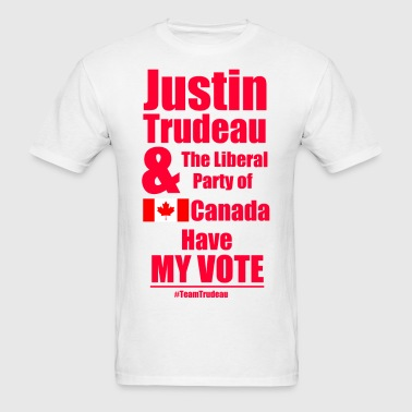 Trudeau has my vote - Men's T-Shirt