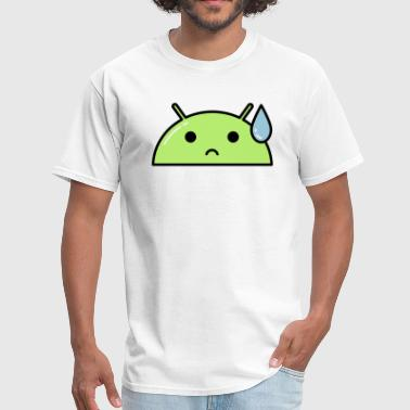 Sad Tear Alien Face Emoticon - Men's T-Shirt