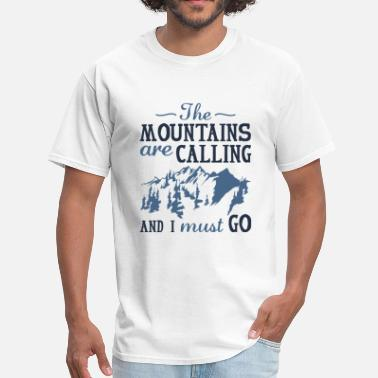 Rocky Mountains The Mountains Are Calling - Men's T-Shirt