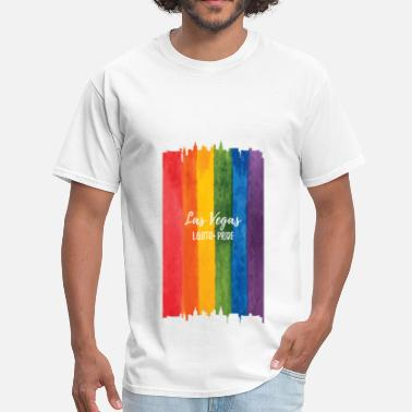 Pride Las Vegas Las Vegas LGBT Pride Watercolor - Men's T-Shirt