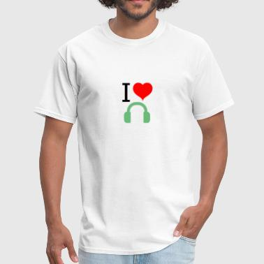 I Love Music Vibe I love / heart music - Men's T-Shirt