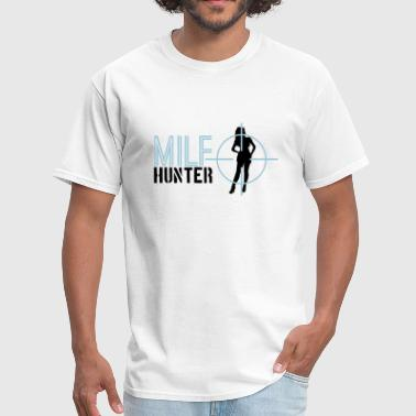 text milf hunter aim sight sniper telescope shoot - Men's T-Shirt
