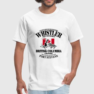 Canada Ski Flag Whistler Skiing - Canadian Maple Leaf - Men's T-Shirt