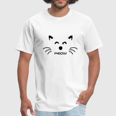 Meow Sweet Kitty Outline Graphic - Men's T-Shirt
