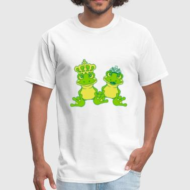 prince king frog prince couple couple love in love - Men's T-Shirt