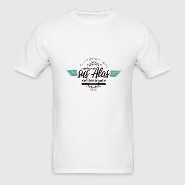 with his feather he will cover us christain shirt - Men's T-Shirt