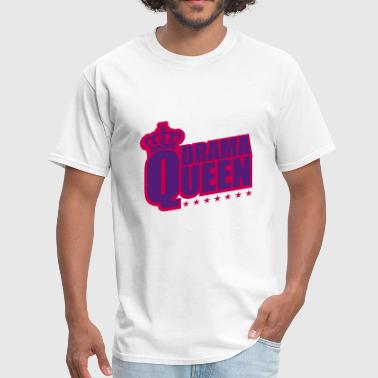Star & Bar star woman drama queen princess female crown pink - Men's T-Shirt