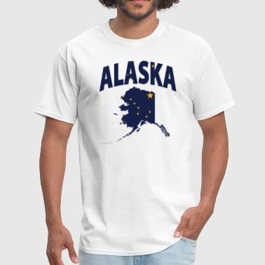 Alaska Designs Alaska Flag Alaska Map - Men's T-Shirt