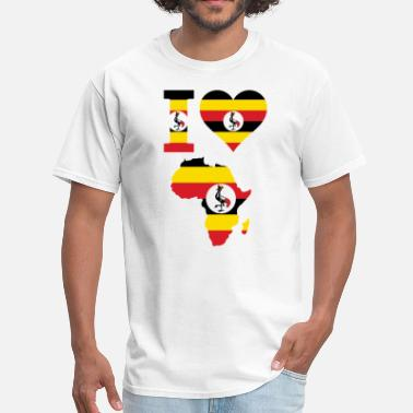 Uganda Map Africa Map Uganda Flag - Men's T-Shirt
