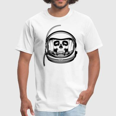 Dead astronaut skull in suit - Men's T-Shirt