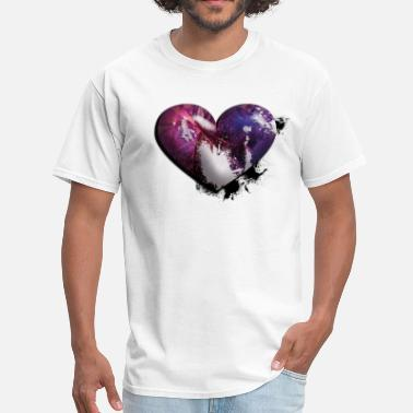 Custom Splatter splatter heart - Men's T-Shirt