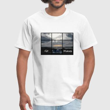 Union Pacific Go places.  Bonneville inspired design. - Men's T-Shirt