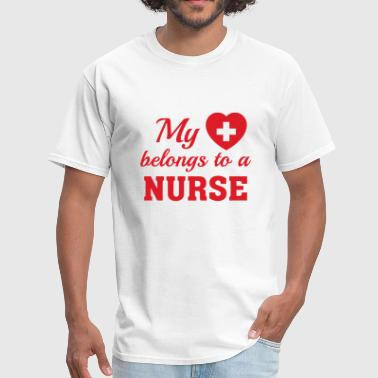 Heart Belongs nurse - Men's T-Shirt