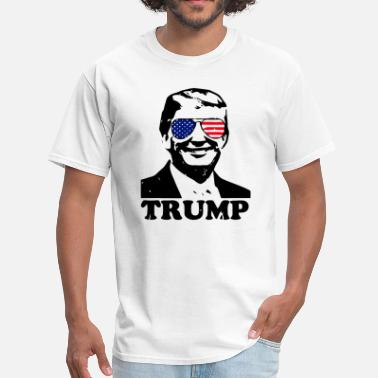 Pro Trump Trump with American Flag - Men's T-Shirt