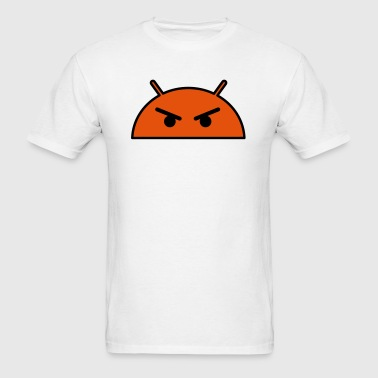 Angry Alien Face Emoticon - Men's T-Shirt