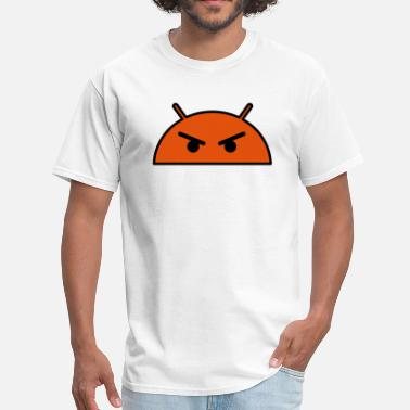 Angry Emoticon Angry Alien Face Emoticon - Men's T-Shirt