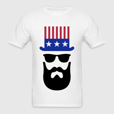 American Hipster (Beard / Bearded) - Men's T-Shirt