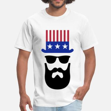 Beard Veteran American Hipster (Beard / Bearded) - Men's T-Shirt
